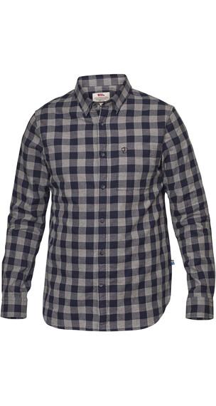 Fjällräven Övik overhemd en blouse lange mouwen Heren blauw
